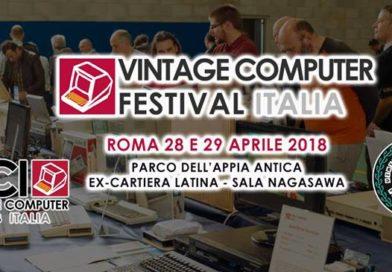 Vi aspettiamo al Vintage Computer Festival Italia 2018!